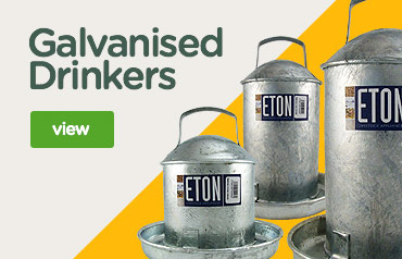 Galvanised Poultry Drinkers | Eton drinkers