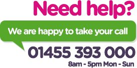 Need Help? Call us on 01455 393 000